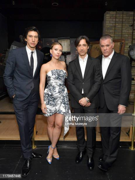 Adam Driver Scarlett Johansson Noah Baumbach and Ray Liotta attend the 'MARRIAGE STORY' Special Presentation and Canadian Premiere at the Elgin and...