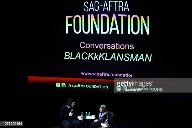 """Adam Driver speaks during the SAG-AFTRA Foundation Conversations: """"BlacKkKlansman"""" With Adam Driver at The Robin Williams Center on November 27, 2018..."""