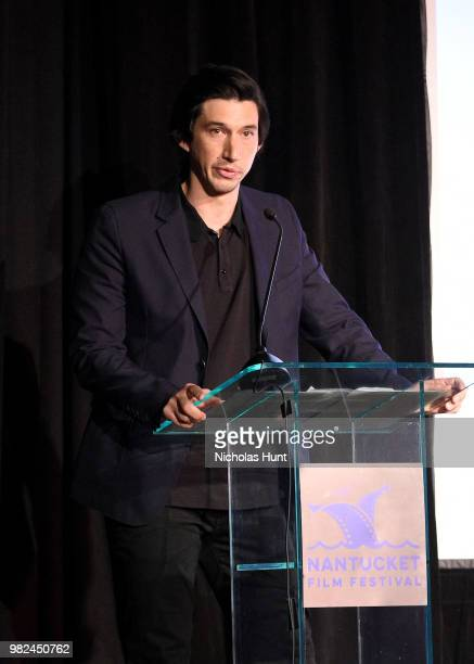 Adam Driver speaks onstage during the Screenwriters Tribute at the 2018 Nantucket Film Festival Day 4 on June 23 2018 in Nantucket Massachusetts