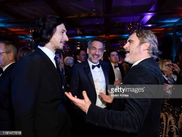 Adam Driver Todd Phillips and Joaquin Phoenix attend the 31st Annual Palm Springs International Film Festival on January 2 2020 in Palm Springs...