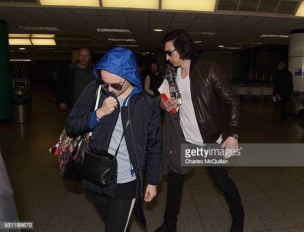 Adam Driver who plays Kylo Ren and Daisy Ridley who plays the character Rey in the Star Wars series arrive at Belfast International Airport this...