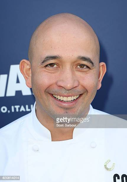Adam D'Sylva poses at the Lavazza Marquee on Oaks Day at Flemington Racecourse on November 3 2016 in Melbourne Australia