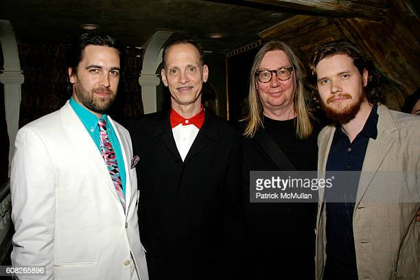 Adam Dugas John Waters Dennis Dermody and Jack Dafoe attend A Theater of Varieties THE WOOSTER GROUP Benefit Sponsored by MAC and The BOX Produced by...