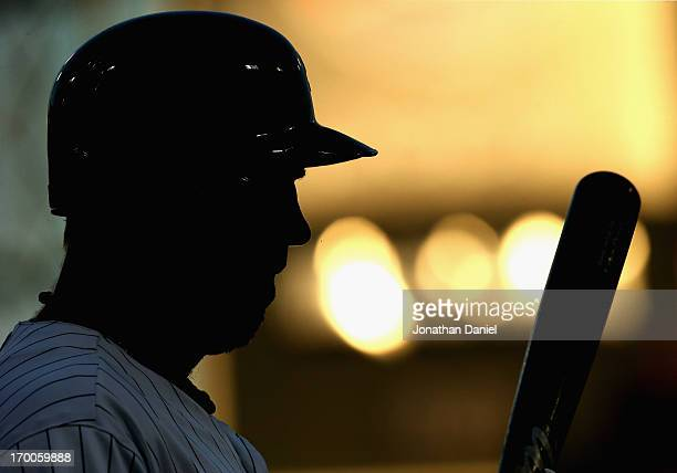 Adam Dunn of the Chicago White Sox prepares to bat against Oakland Athletics at US Cellular Field on June 6 2013 in Chicago Illinois