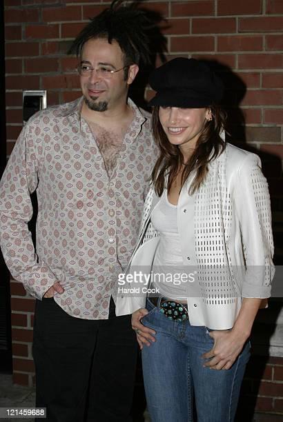 Adam Duritz and Gina Gershon during Calvin Klein Underwear Party May 21 2004 at Milk Studios in New York City New York United States