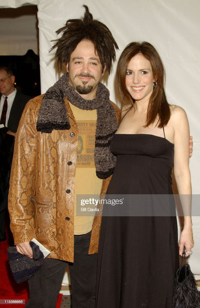 Adam Duritz and Mary-Louise Parker during 'Angels In America' - New York Premiere at Ziegfeld Theater in New York City, New York, United States.