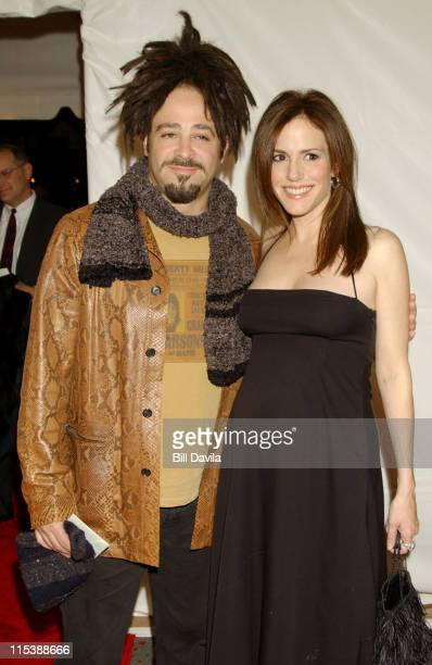 Adam Duritz and MaryLouise Parker during 'Angels In America' New York Premiere at Ziegfeld Theater in New York City New York United States