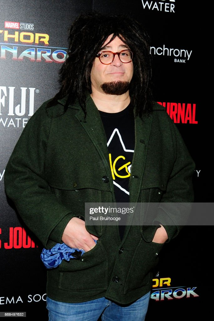 Adam Duritz attends The Cinema Society with FIJI Water, Men's Journal, and Synchrony host a screening of Marvel Studios' 'Thor: Ragnarok' at the Whitby Hotel on October 30, 2017 in New York City.