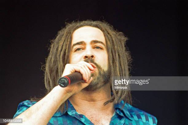 Adam Duritz lead vocalist with the american rock band Counting Crows seen here performing on the pyramid stage at Glastonbury 23rd June 2000.