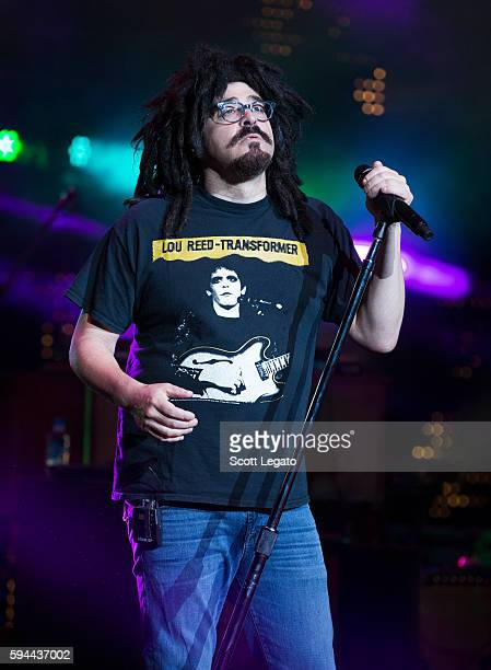 Adam Duritz of Counting Crows performs at DTE Energy Music Theatre on August 23 2016 in Clarkston Michigan