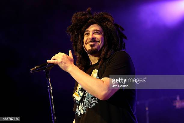 Adam Duritz of Counting Crows performs at The Greek Theatre on August 17 2014 in Los Angeles California