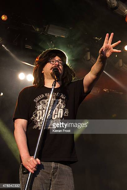 Adam Duritz of Counting Crows performs at The Royal Hospital Kilmainham on June 24 2015 in Dublin Ireland