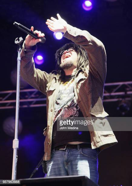 Adam Duritz of Counting Crows performs during the 1st annual Innings Festival at Tempe Beach Park on March 25 2018 in Tempe Arizona