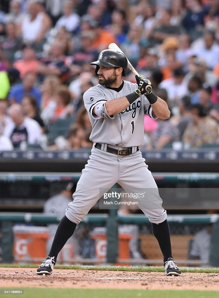 Adam Eaton #1 of the Chicago White Sox bats during the game against the Detroit Tigers at Comerica Park on June 3, 2016 in Detroit, Michigan. The Tigers defeated the White Sox 10-3.