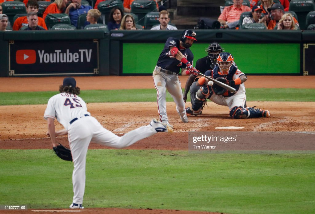 World Series - Washington Nationals v Houston Astros - Game One : News Photo