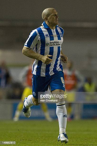Adam ElAbd of Brighton during the pre season friendly match between Brighton Hove Albion and Reading at American Express Community Stadium on August...