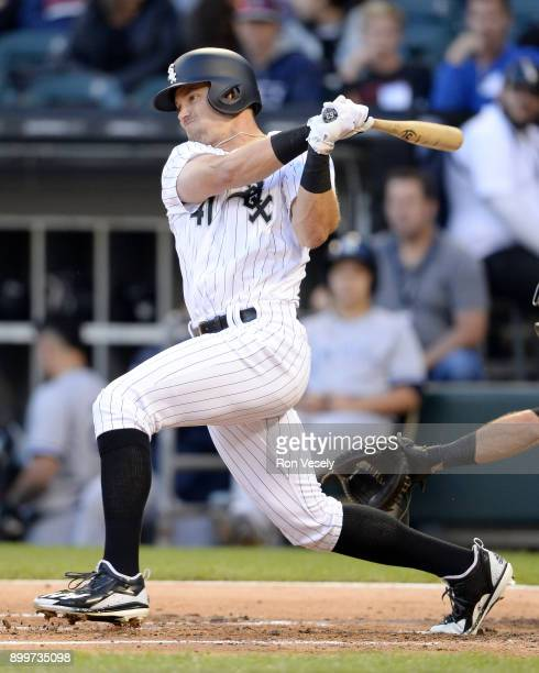 Adam Engel of the Chicago White Sox bats against the New York Yankees on June 26 2017 at Guaranteed Rate Field in Chicago Illinois