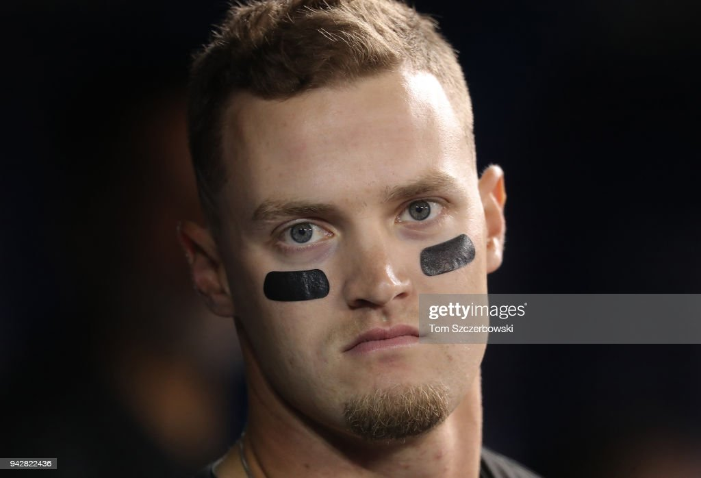Adam Engel #15 of the Chicago White Sox looks on from the dugout during MLB game action against the Toronto Blue Jays at Rogers Centre on April 3, 2018 in Toronto, Canada. (Photo by Tom Szczerbowski/Getty Images) Adam Engel