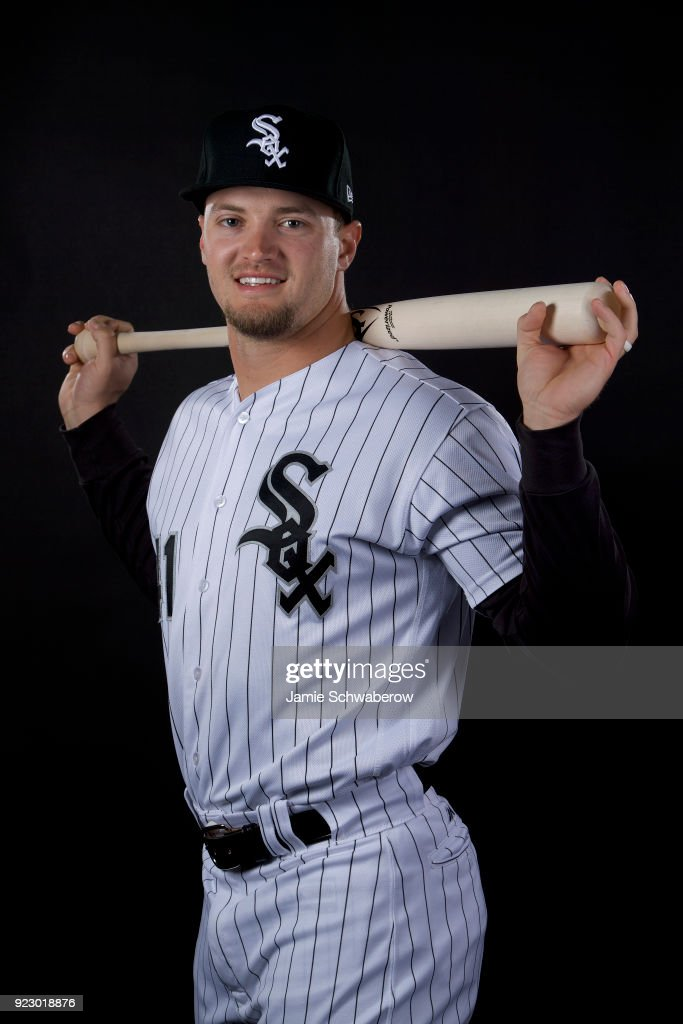 Adam Engel #15 of the Chicago White Sox poses during MLB Photo Day on February 21, 2018 in Glendale, Arizona.