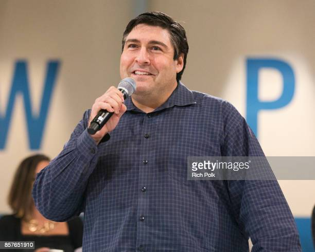 Adam F Goldberg Creator and Executive Producer of The Goldbergs speaks at an event celebrating the 100th episode of TVs hit comedy The Goldbergs on...