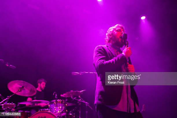 Adam Faulkner and Dara Kiely of Girl Band performs live at Vicar Street on November 22 2019 in Dublin Ireland