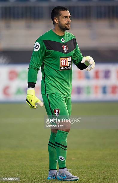 Adam Federici of AFC Bournemouth plays in the friendly match against the Philadelphia Union on July 14 2015 at the PPL Park in Chester Pennsylvania