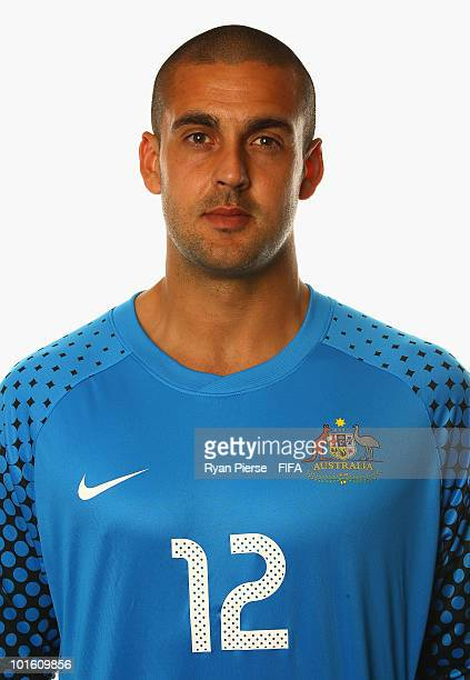 Adam Federici of Australia poses during the official FIFA World Cup 2010 portrait session on June 4 2010 in Johannesburg South Africa