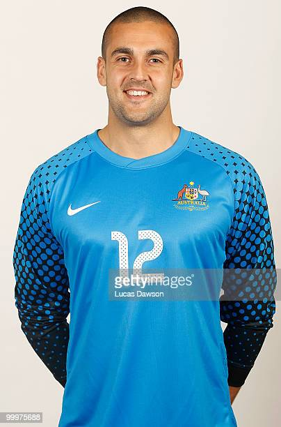 Adam Federici of Australia poses for a portrait during an of Australian Socceroos portrait session at Park Hyatt on May 19 2010 in Melbourne Australia
