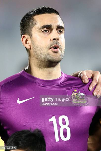 Adam Federici of Australia Socceroos sings prior to kick off during the 2018 FIFA World Cup Qualification match between Bangladesh and the Australia...