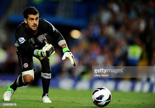 Adam Federici of Reading in action during the Barclays Premier League match between Chelsea and Reading at Stamford Bridge on August 22 2012 in...