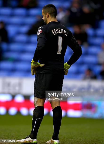 Adam Federici of Reading stands dejected during the Sky Bet Championship match between Reading and Nottingham Forest at Madejski Stadium on February...