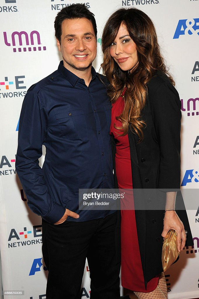 Adam Ferrara (L) and Alex Tyler attend the 2014 A+E Networks Upfront on May 8, 2014 in New York City.