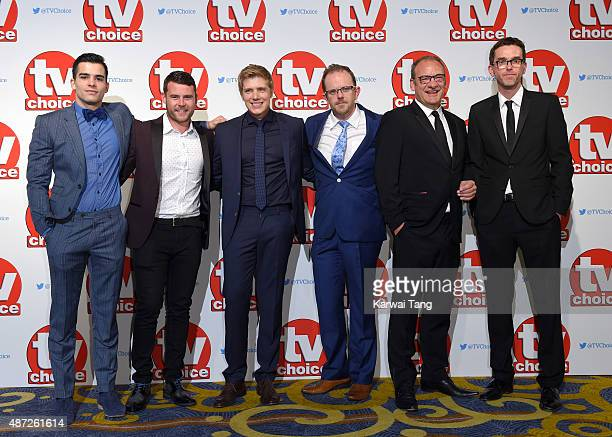 Adam Fielding Danny Miller Ryan Hawley Liam Fox Nick Miles and Mark Charnock attend attend the TV Choice Awards 2015 at Hilton Park Lane on September...