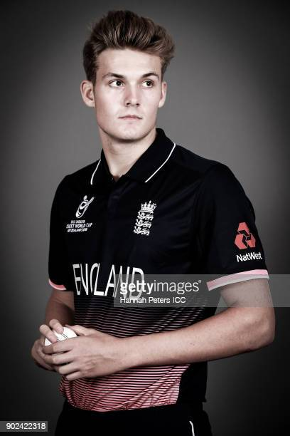 Adam Finch poses during the England ICC U19 Cricket World Cup Headshots Session at Rydges Christchurch on January 8 2018 in Christchurch New Zealand
