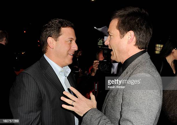 Adam Fogelson Chairman Universal Pictures and actor Jason Bateman arrive at the premiere of Universal Pictures' 'Identity Thief' at the Village...