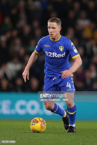 Adam Forshaw of Leeds United during the Sky Bet Championship match between Derby County and Leeds United at iPro Stadium on February 20 2018 in Derby...