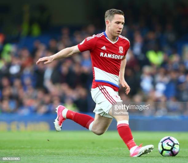 Adam Forshaw of Middlesbrough during Premier League match between Chelsea and Middlesbrough at Stamford Bridge London England on 08 May 2017