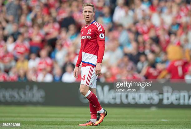 Adam Forshaw of Middlesbrough during the Premier League match between Middlesbrough and Stoke City on August 13 2016 in Middlesbrough