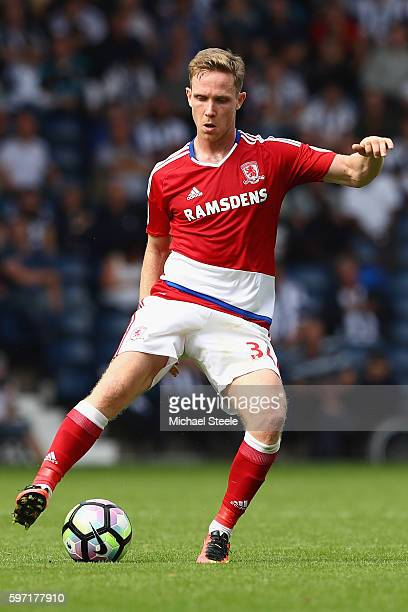 Adam Forshaw of Middlesbrough during the Premier League match between West Bromwich Albion and Middlesbrough at The Hawthorns on August 28 2016 in...