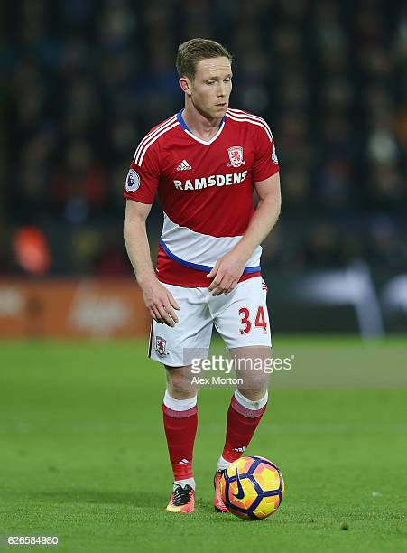 Adam Forshaw of Middlesbrough during the Premier League match between Leicester City and Middlesbrough at The King Power Stadium on November 26 2016...