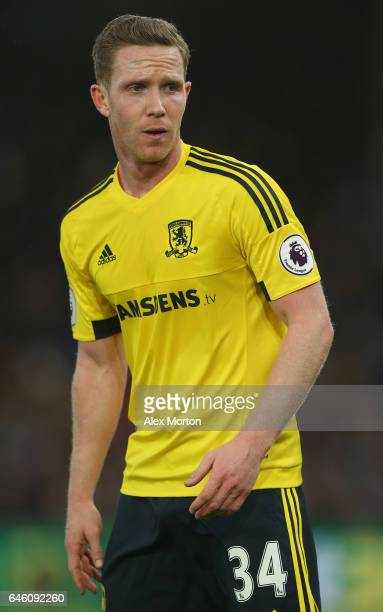 Adam Forshaw of Middlesbrough during the Premier League match between Crystal Palace and Middlesbrough at Selhurst Park on February 25 2017 in London...