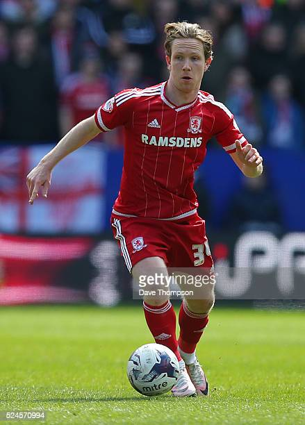 Adam Forshaw of Middlesbrough during the Sky Bet Championship match between Bolton Wanderers and Middlesbrough at the Macron Stadium on April 16 2016...
