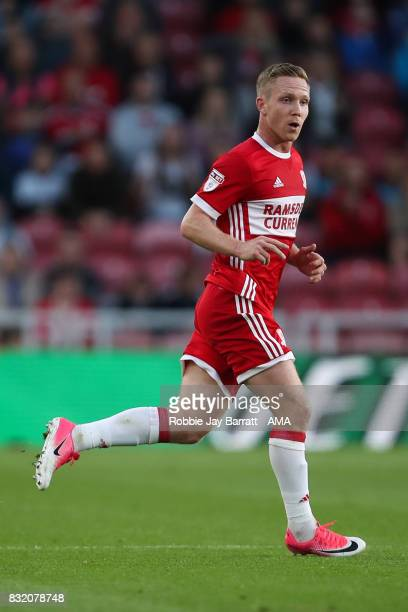 Adam Forshaw of Middlesbrough during the Sky Bet Championship match between Middlesbrough and Burton Albion at Riverside Stadium on August 15 2017 in...