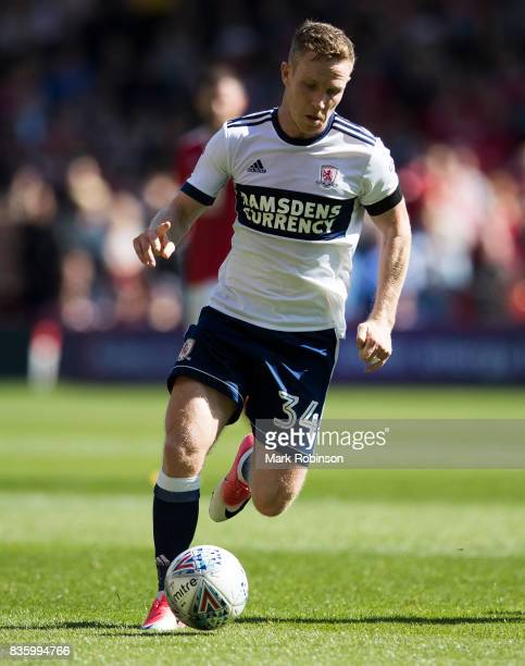 Adam Forshaw of Middlesbrough during the Sky Bet Championship match between Nottingham Forest and Middlesbrough at City Ground on August 19 2017 in...