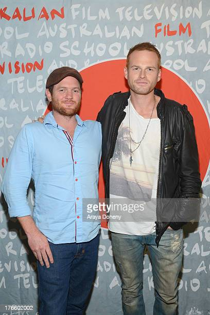 Adam Foster and Martin Copping attend the Australians In Film screening of Battle Ground on August 15 2013 in Los Angeles California