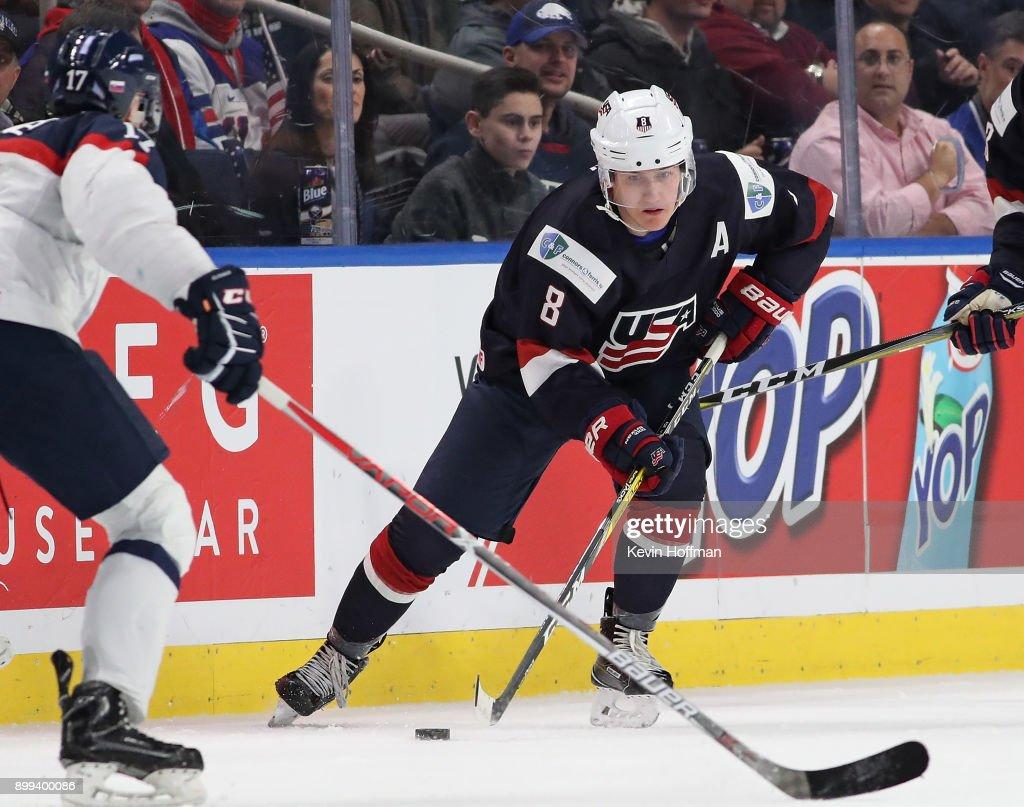 United States v Slovakia - 2018 IIHF World Junior Championship : News Photo