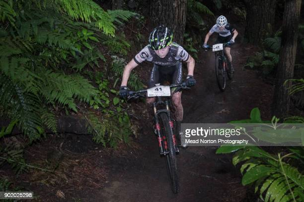 Adam Francis from Palmerston North won the U17 race during the MTB North Island XC Championships Rotorua on January 7 2018 in Rotorua New Zealand