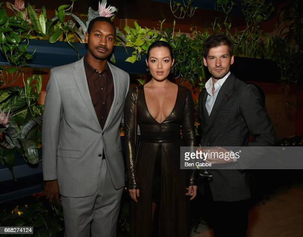 Adam Franklin Mia Kang and Alain Remise attend The Hollywood Reporter 35 Most Powerful People In Media 2017 at The Pool on April 13 2017 in New York...