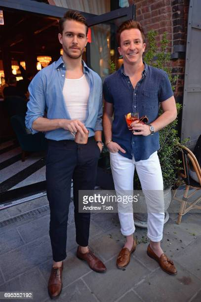 Adam Gallagher and Jordan Caruso attend the Cecconi's Dumbo Opening Party hosted by Nick Jones Soho House on June 12 2017 in the Brooklyn borough of...