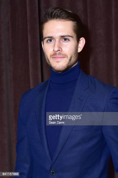 Adam Gallagher attends Boss Front Row NYFW Men's at Skylight Modern on January 31 2017 in New York City